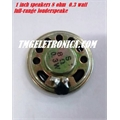 ALTO FALANTE 8 OHM POTENCIA  0,3WATT  1,1Polegada, DIAMETRO 28MM,1 Inch Diameter 0.3W 8 Ohm Ultra Thin Full Range Speaker