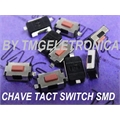 CHAVE TACT SMD 2,5MM - 3MmX6MmX2,5Mm VERMELHO - Tact Switches