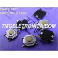 CHAVE TACT SMD 1,6MM - 5,2MmX5,2MmX1,6Mm GOLD - Tact Switches