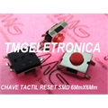 CHAVE TACT SMD 3,1Mm - 6MmX6MmX3,1Mm 4 pinos - Tact Switches