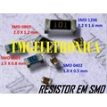 4R4 - RESISTOR SMD SIZE 0805 - SOLDER PAD DIMENSIONS 2,0Mm x 1,3Mm
