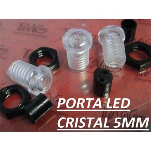 porta led 5mm suporte de led 5mm com lente cristal