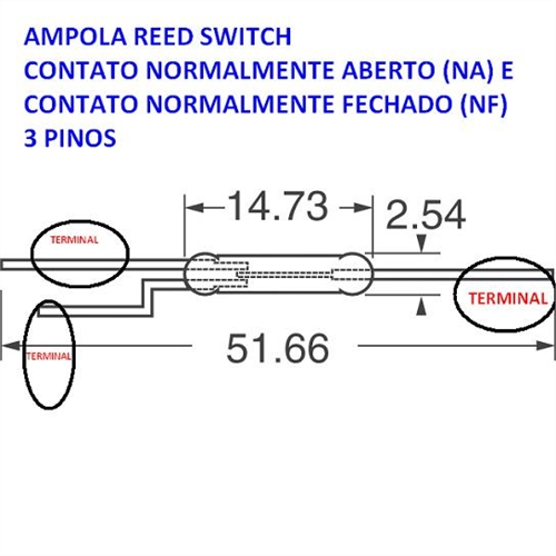 Reed Magnetic Switch 14 Mm